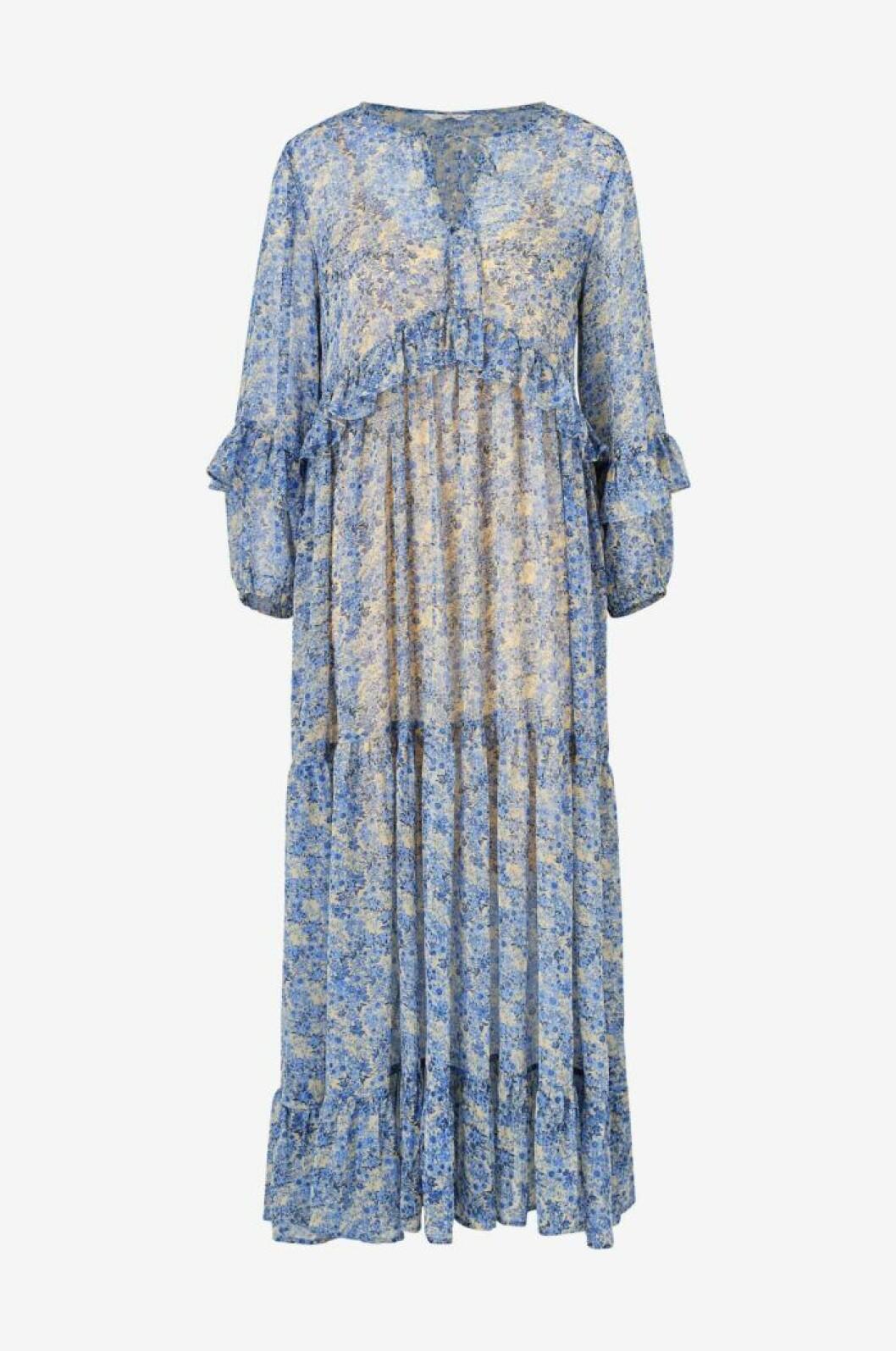 Blå långklänning till midsommar 2020