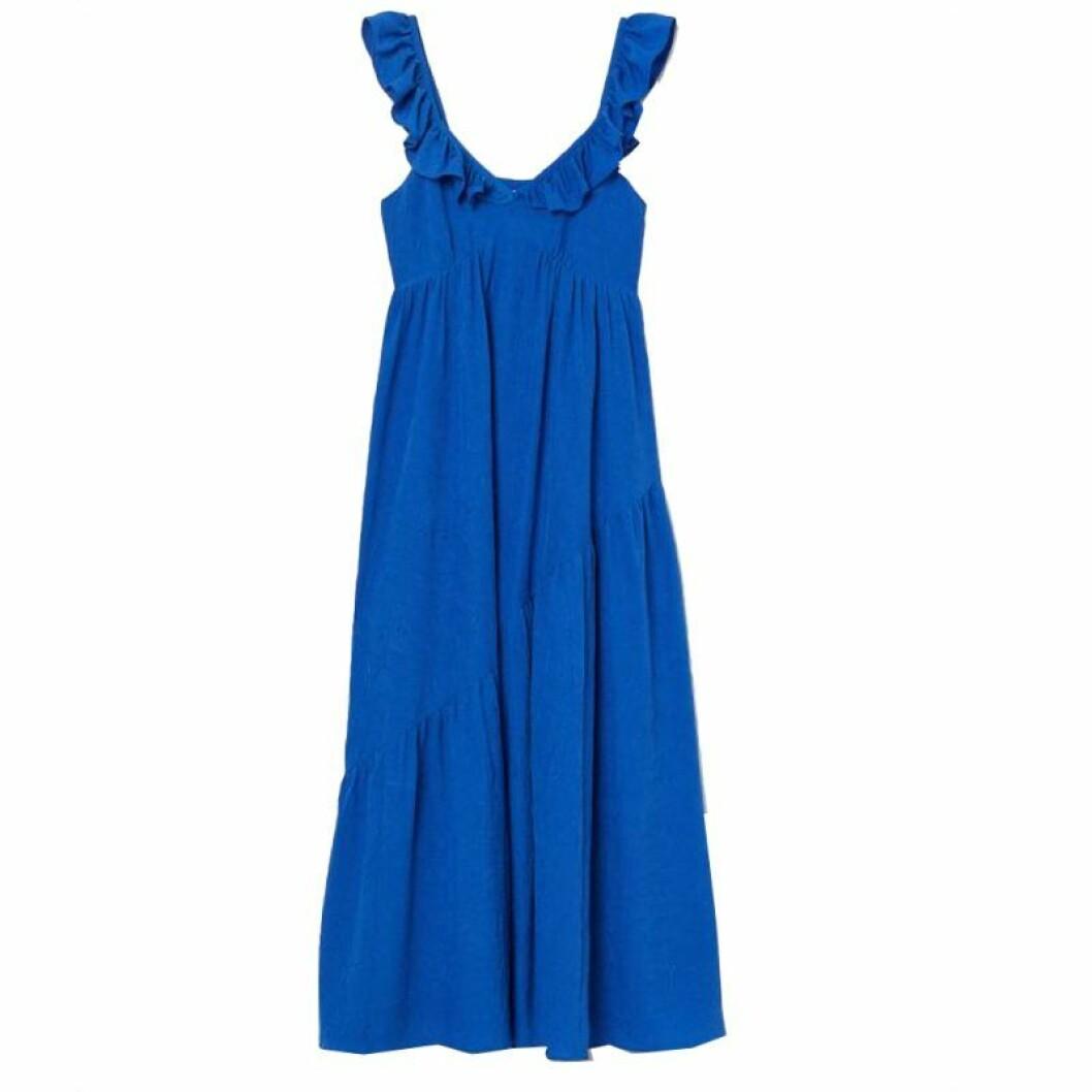 Klarblå klänning från H&M