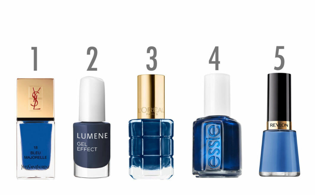 blå nagellack hösten 2016