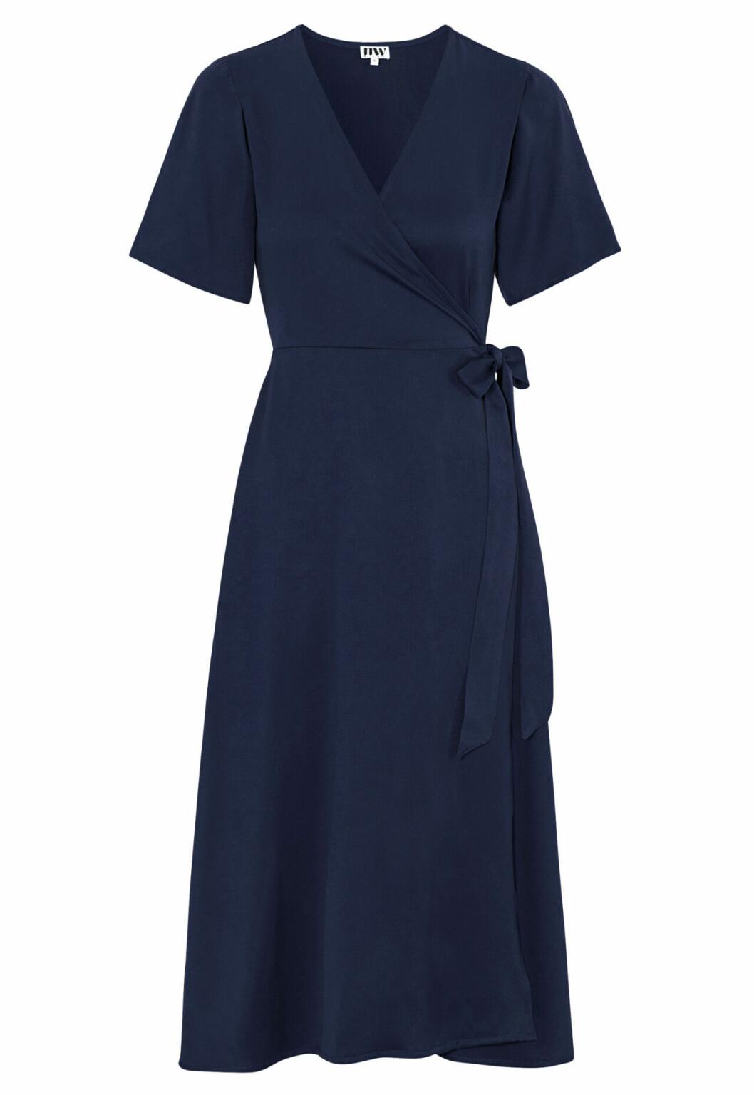 Mörkblå omlottklänning för dam till 2020