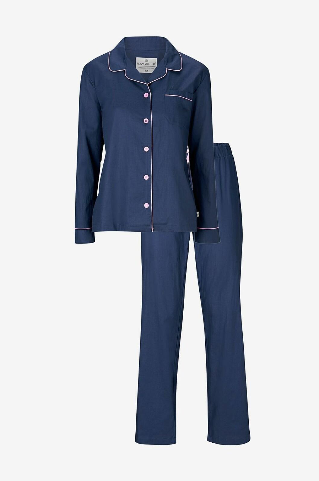 Blå pyjamas till julen