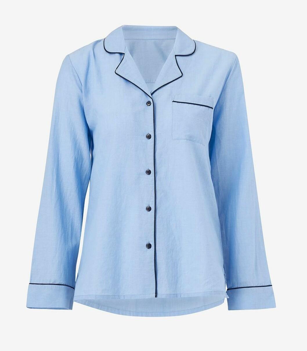 Blå pyjamasskjorta för dam till 2019
