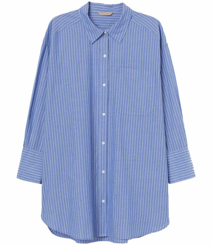 randig blå skjorta
