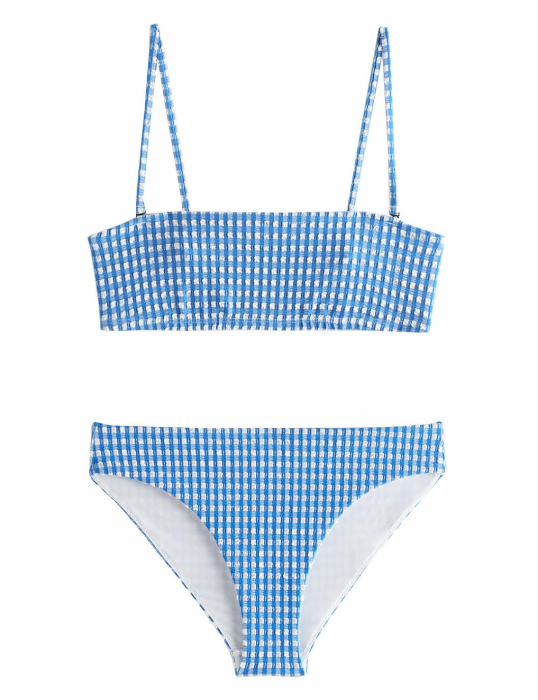 Blå rutig bikini till sommaren 2020