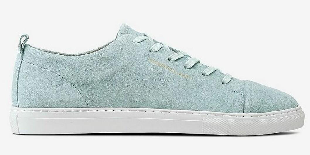 Blå sneakers i mocka till dam från Morris till våren 2019