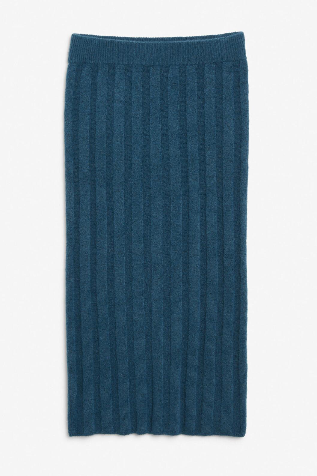 Blå stickad kjol för dam till hösten 2019