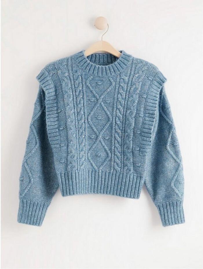 Blå stickad tröja från Lindex