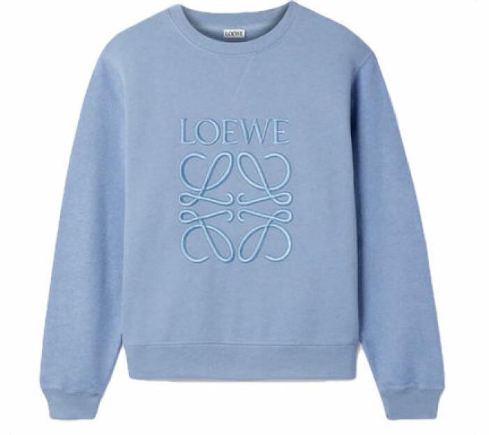 Blå sweatshirt från Loewe.