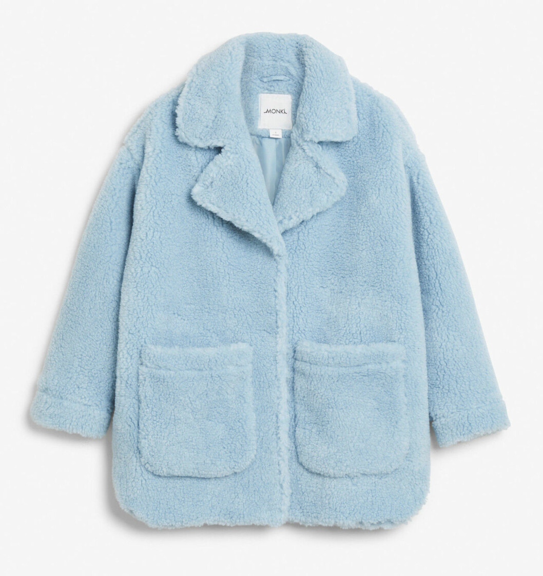 Blå teddyjacka