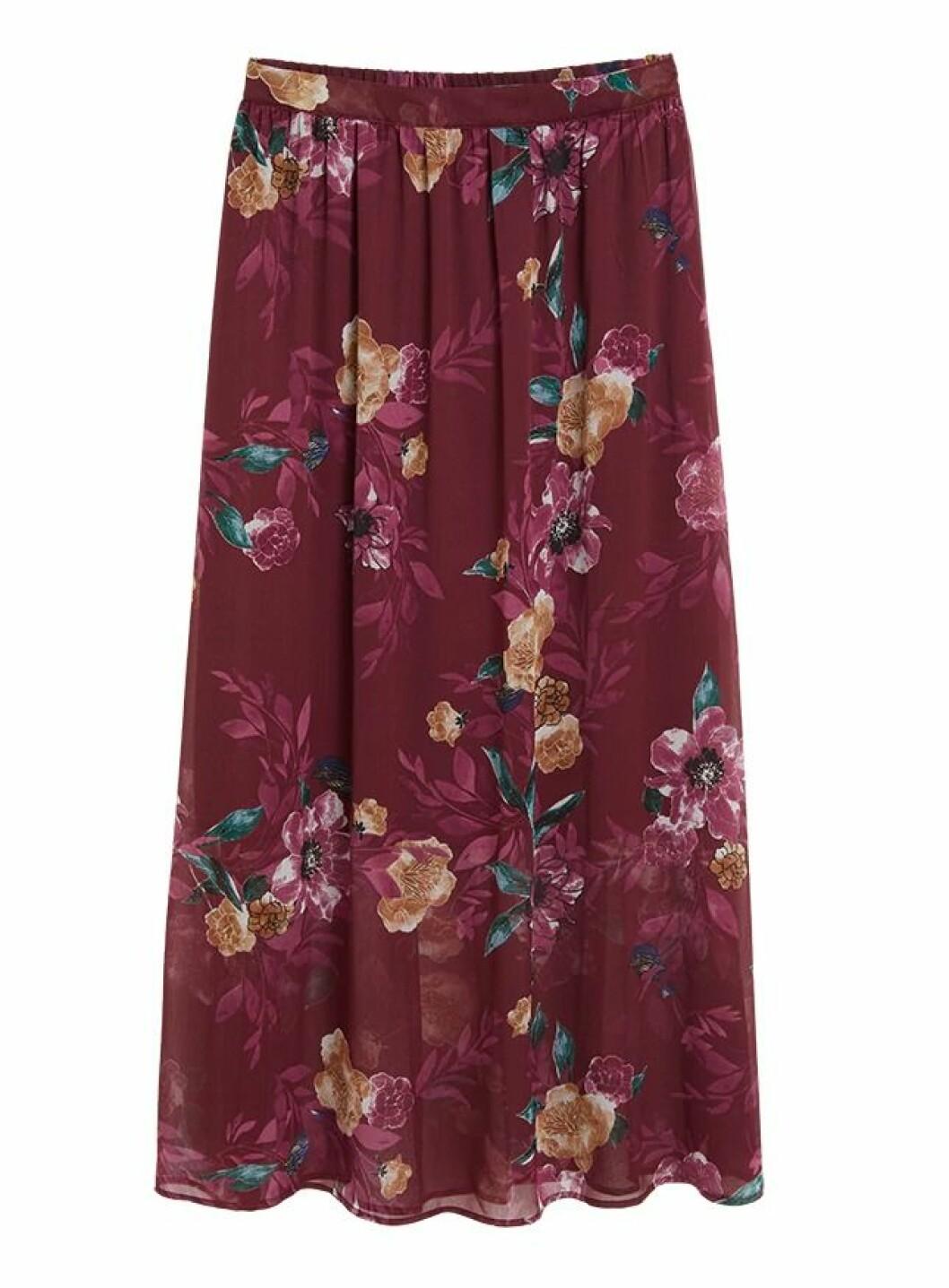 Blommig kjol till hösten