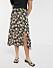 Blommig kjol med slits för dam till 2020
