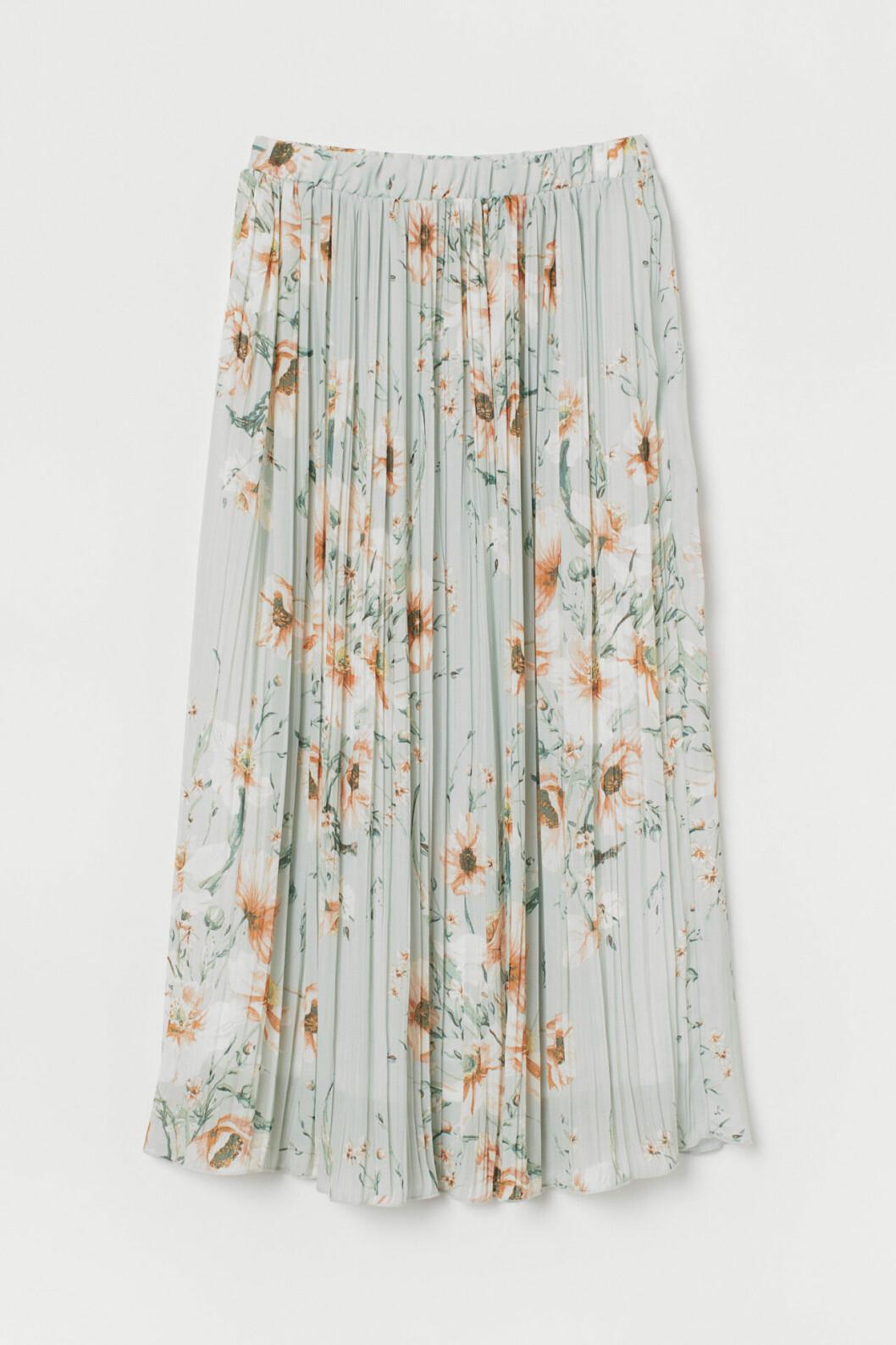 Blommig plisserad kjol för dam till 2019