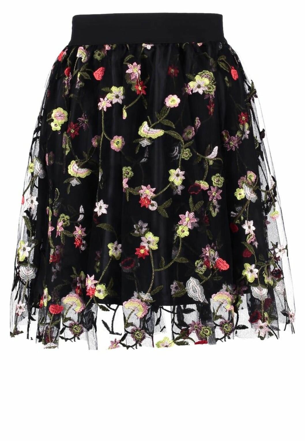 blommig kjol tyll