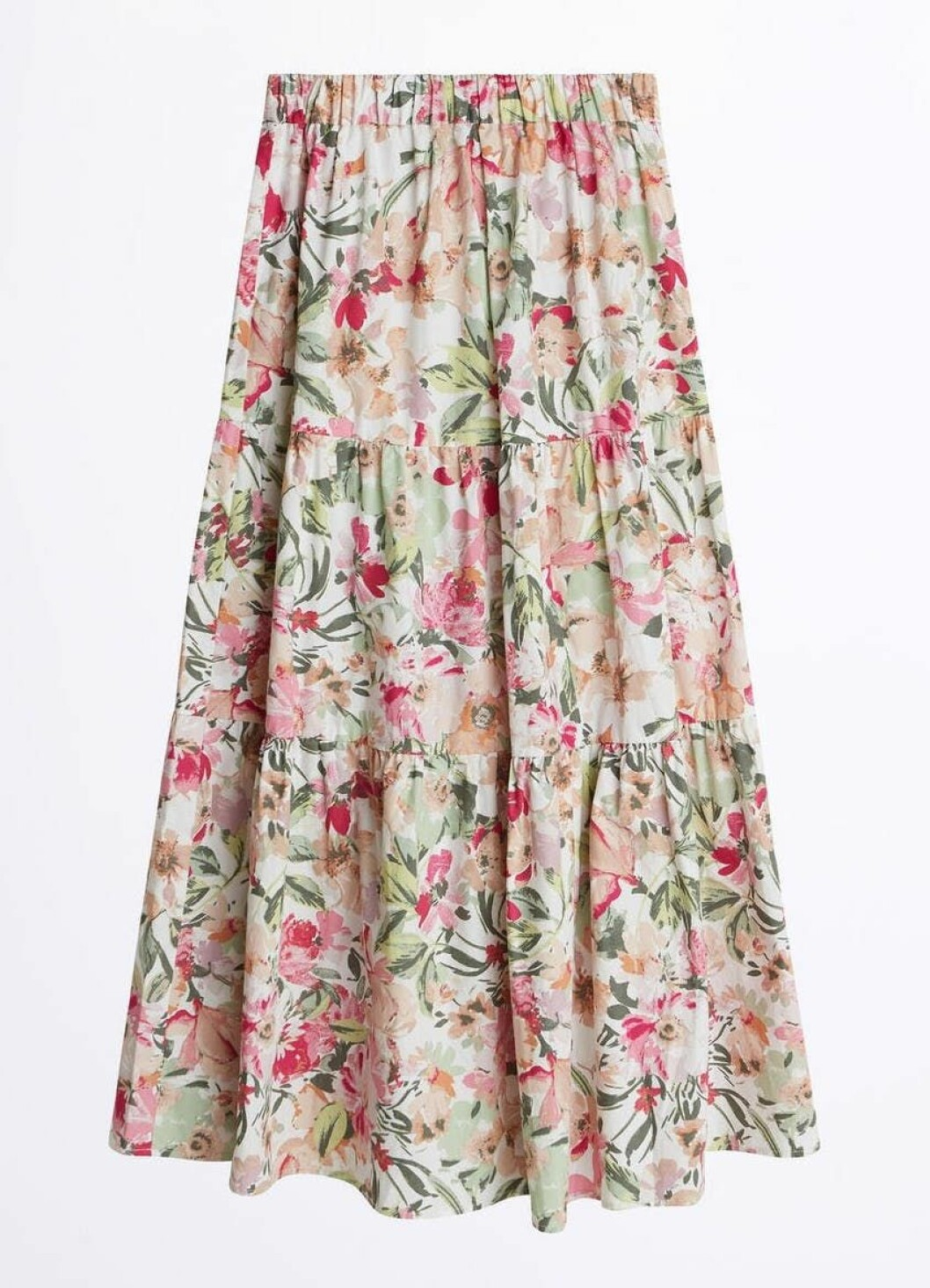 Mönstrad kjol med volanger för dam till våren och sommaren 2020