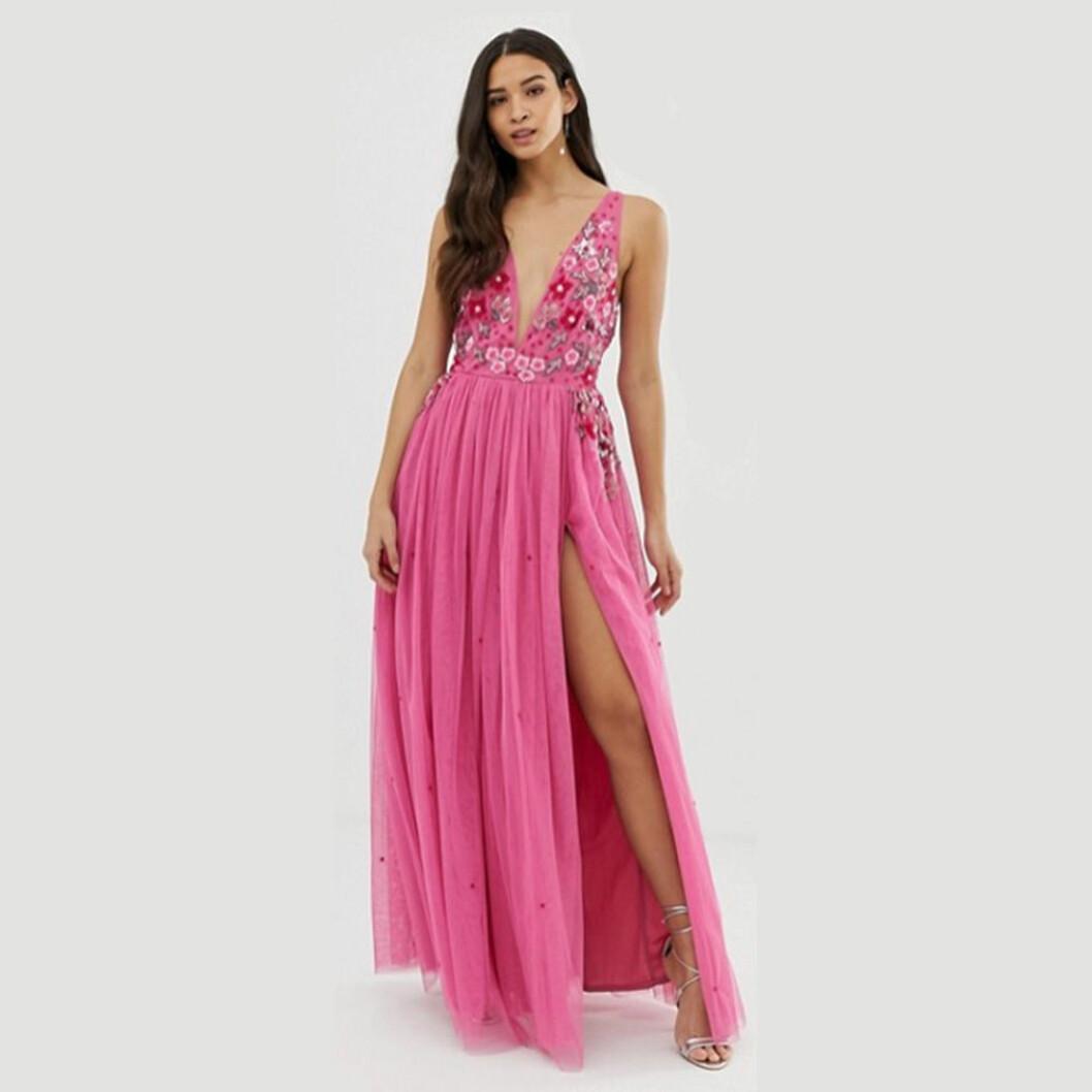 Dolly & Delicious rosa maxiklänning
