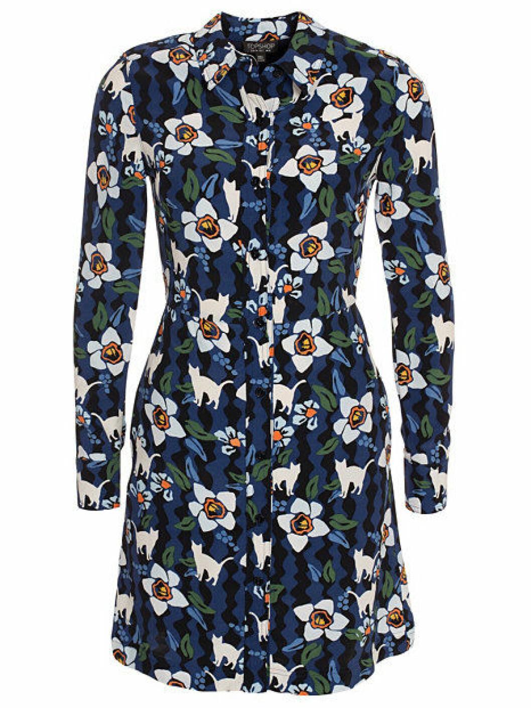 blommig skjortklanning