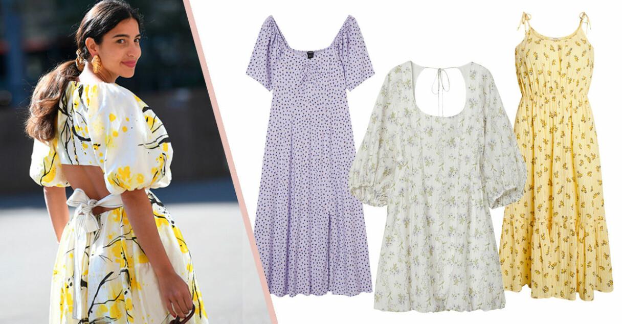 Blommiga klänningar sommaren 2021