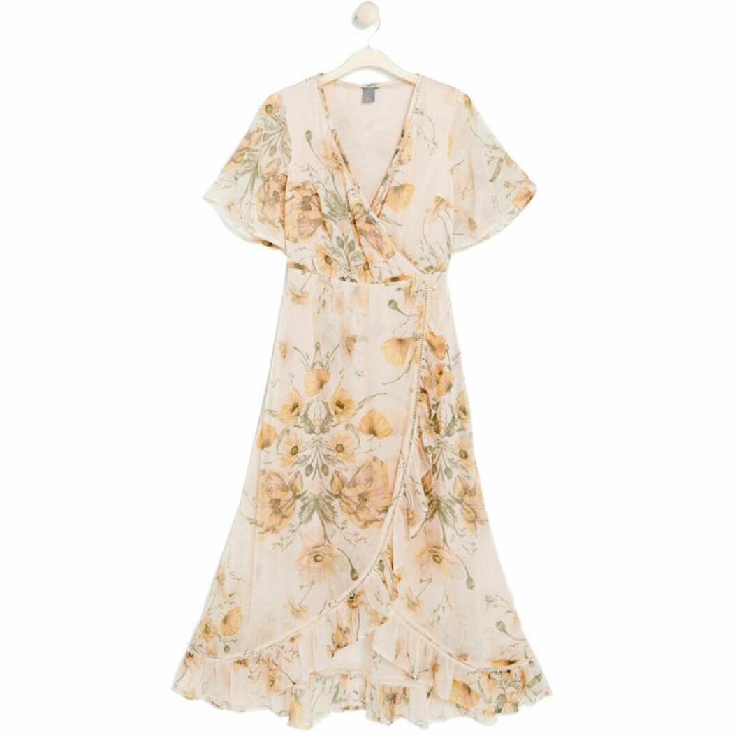 Blommig klänning Lindex
