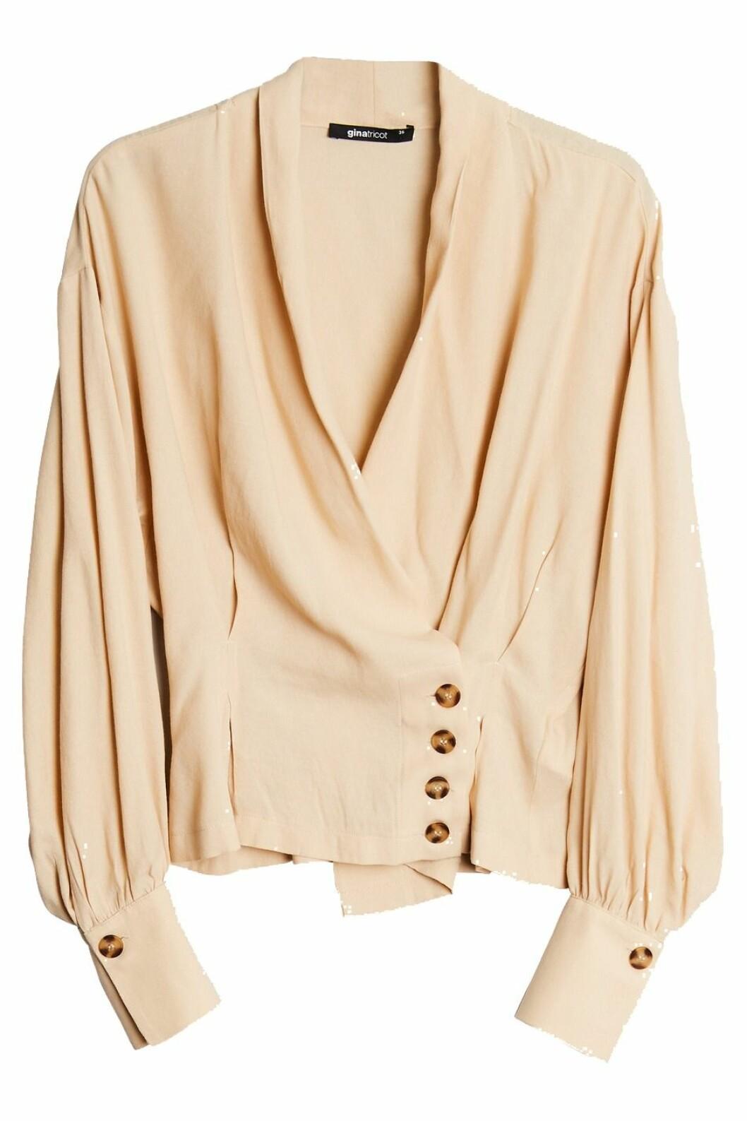 Beige blus från Gina tricot