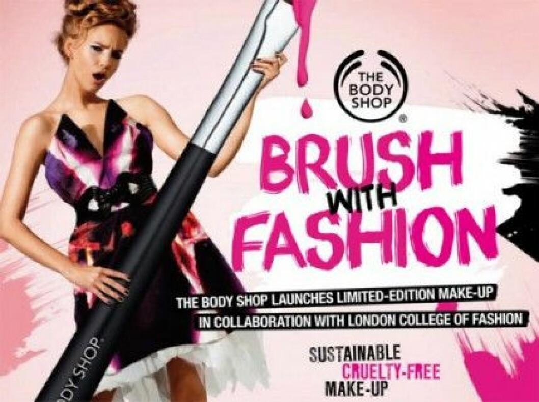 "Makeup och mode möts hos ""Brush with Fashion"" från The Body Shop."