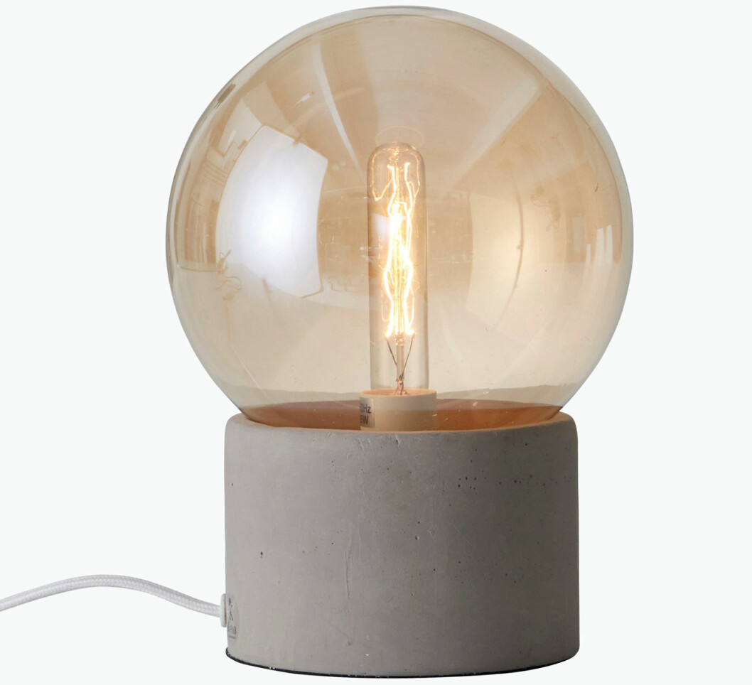 bordslampa betong