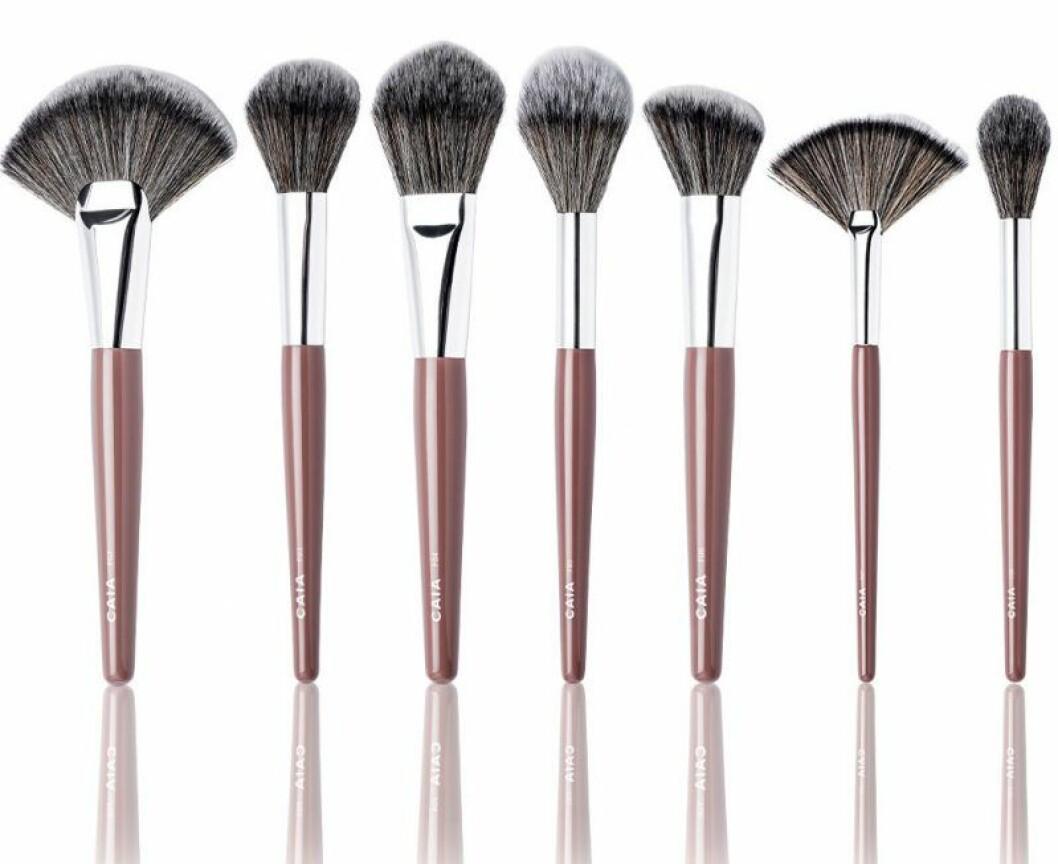 Sminkborstar från Caia Cosmetics.