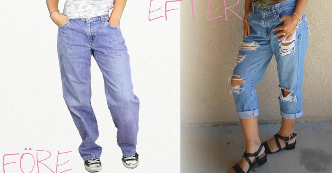 boyfriend jeans gora hemma