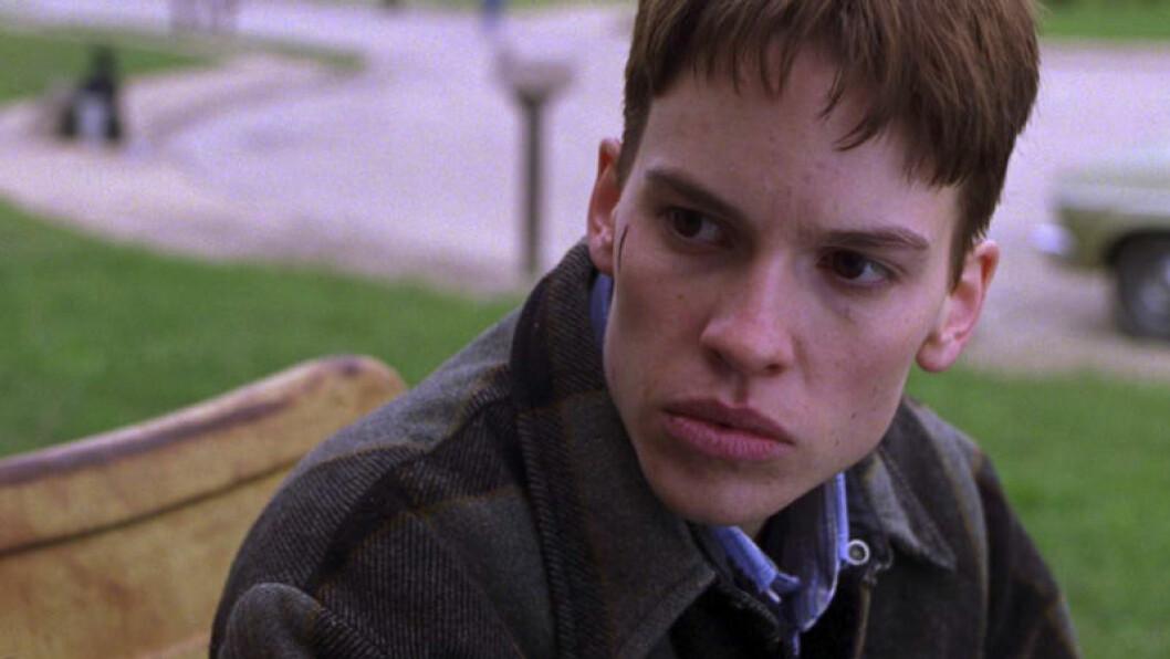 Hillary Swank som transperson i filmen Boys Don't Cry.