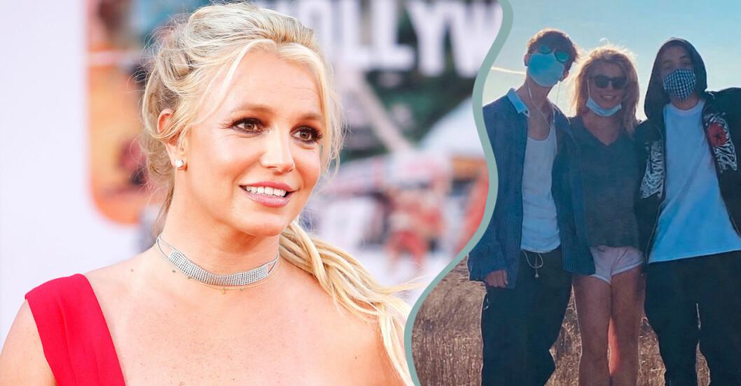 Britney Spears hyllar sina söner Preston och Jayden
