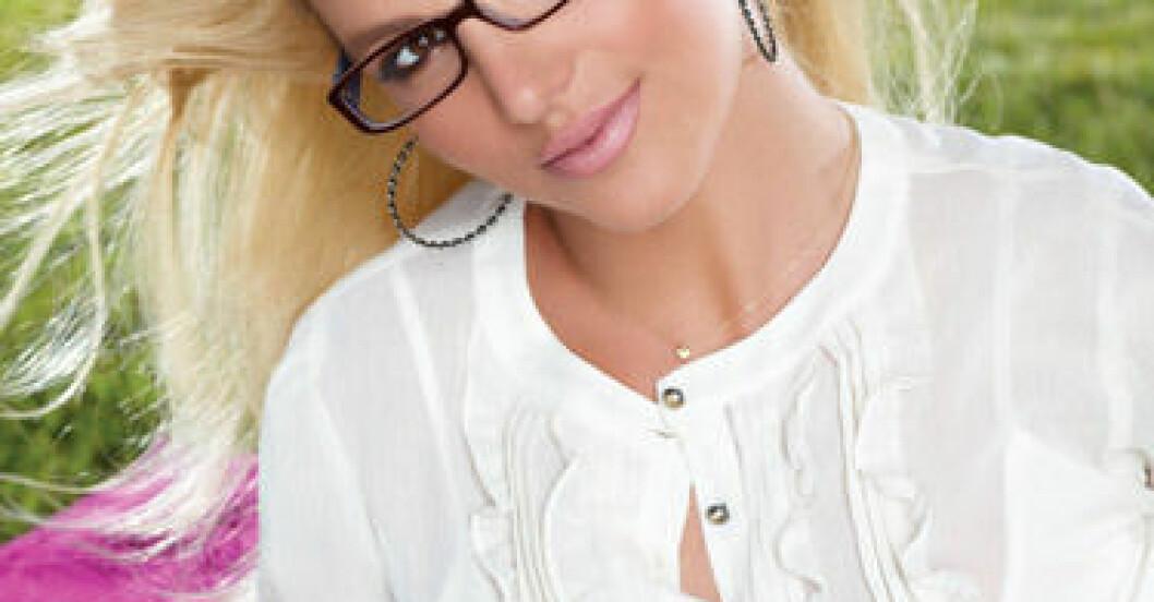 Britney Spears i glasögon för Candie's hösten 2009.