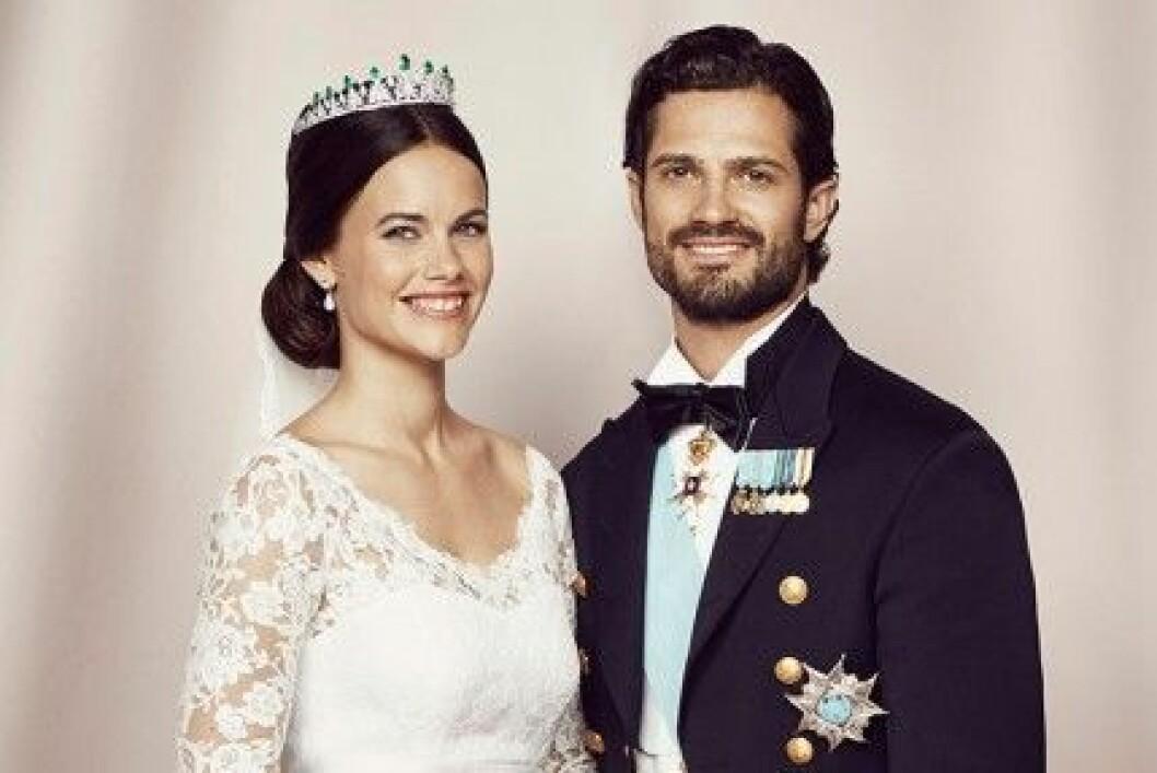 En av de officiella bilderna på prinsparet.