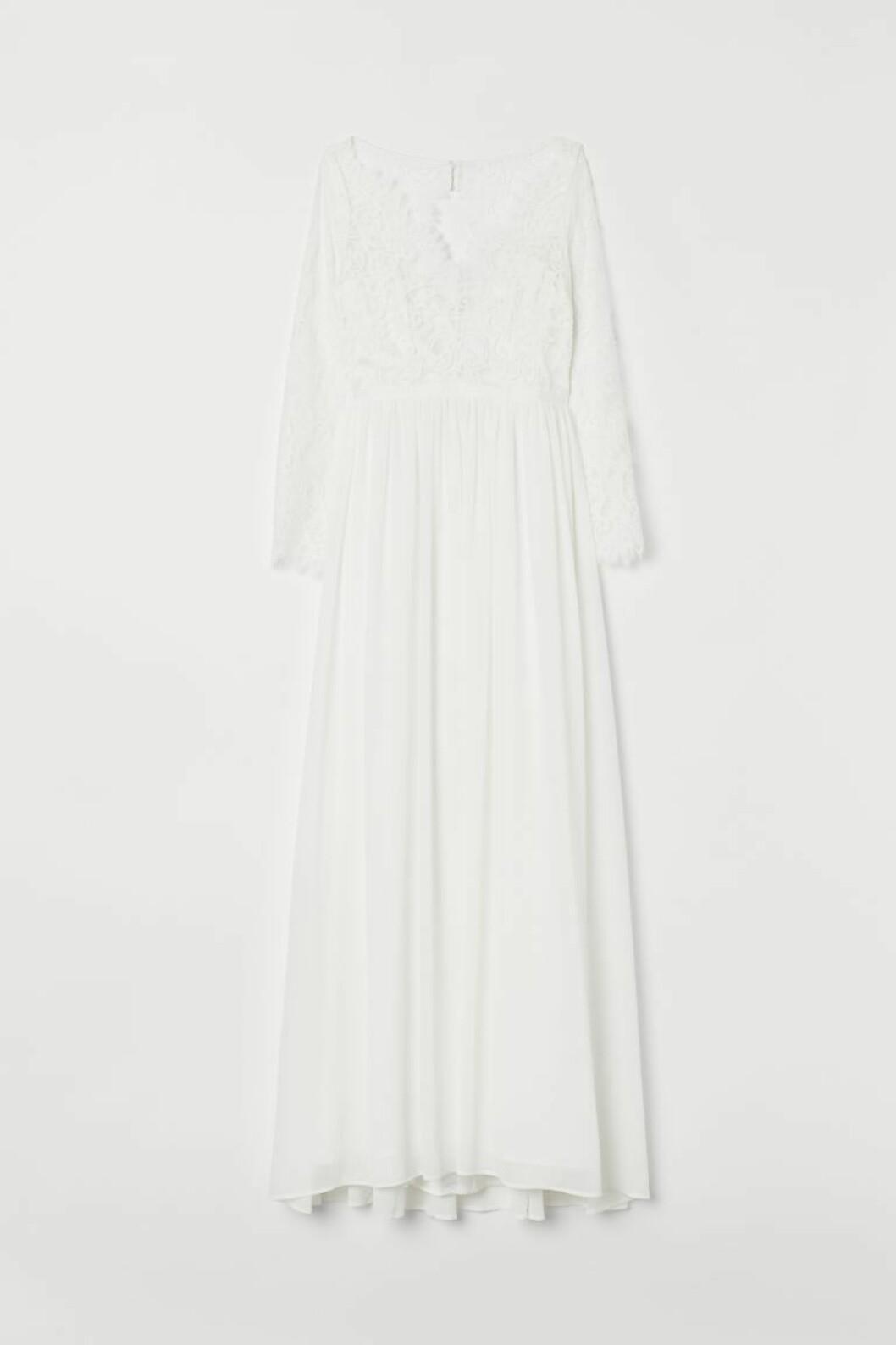 Bröllopsklänning i spets från H&M