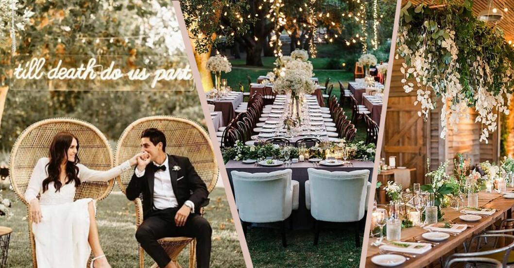 Bröllopstrender 2019 enligt pinterest