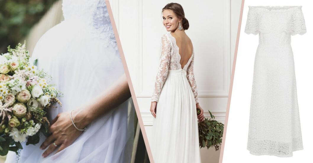 Bröllopsklänning som passar gravida