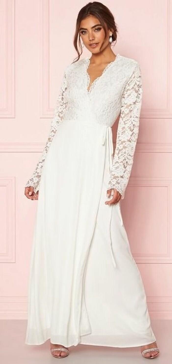 omlottklänning bröllopsklänning