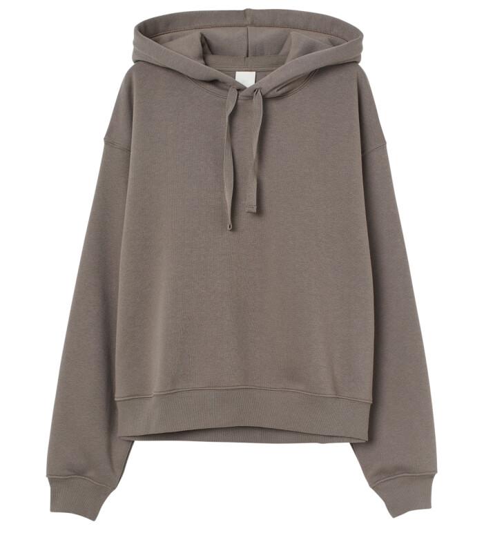 brun hoodie hm