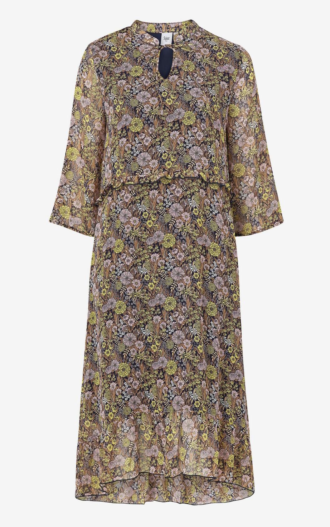 Brun höstklänning för dam till hösten 2019