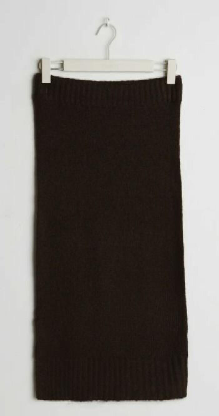 Brun kjol gina tricot