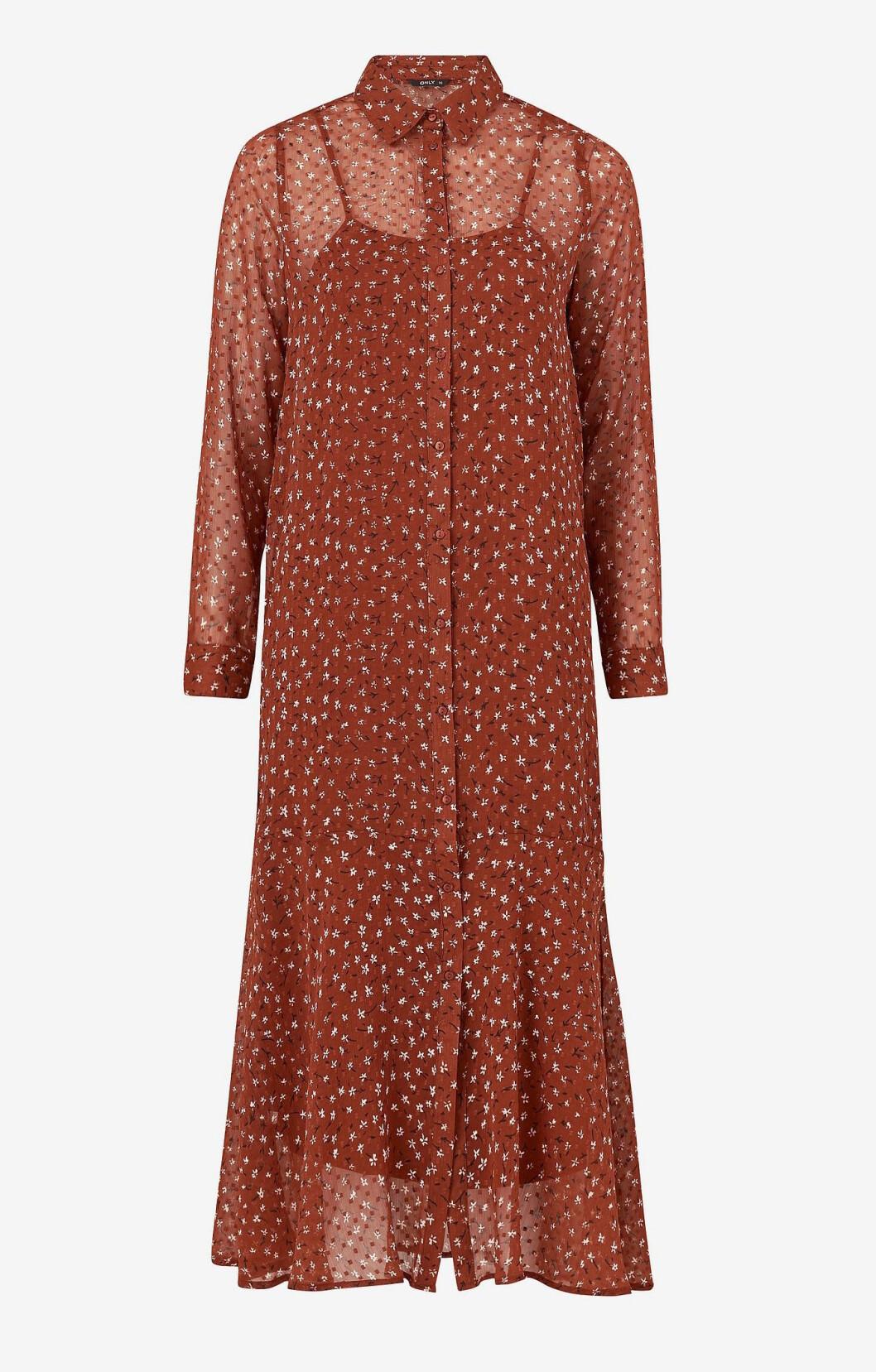 Brun klänning för dam till hösten 2019