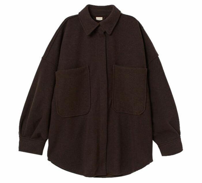 brun skjortjacka oversize