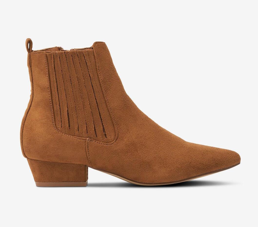 Bruna boots i mocka för dam till hösten 2019