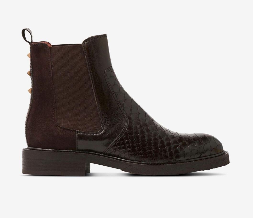 Bruna boots med låg klack för dam till 2019