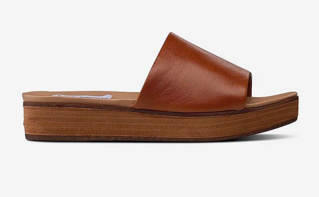 Bruna sandaler med platåsula för dam till 2019