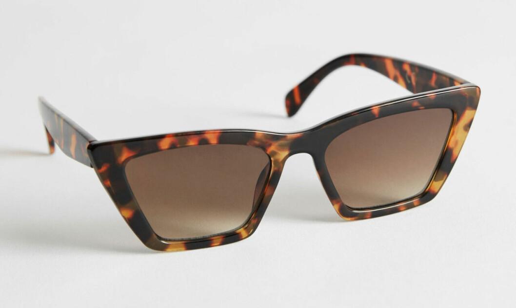 Bruna kantiga solglasögon för dam till 2020