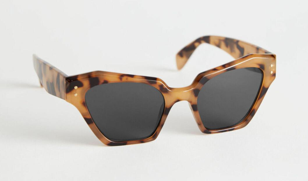 Brunmelerade solglasögon till budgetpris för dam