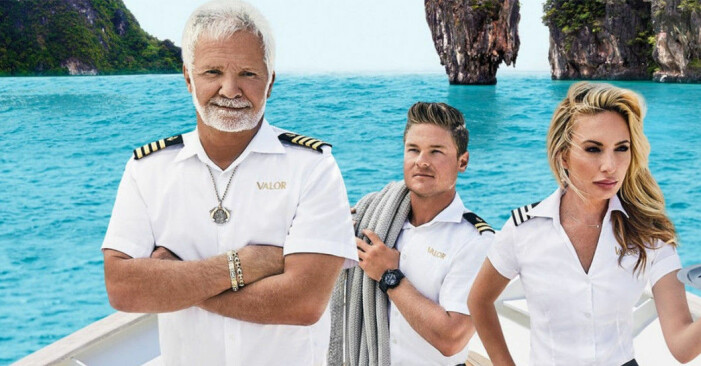Captain Lee, Ashton och Kate i realityserien Below deck.