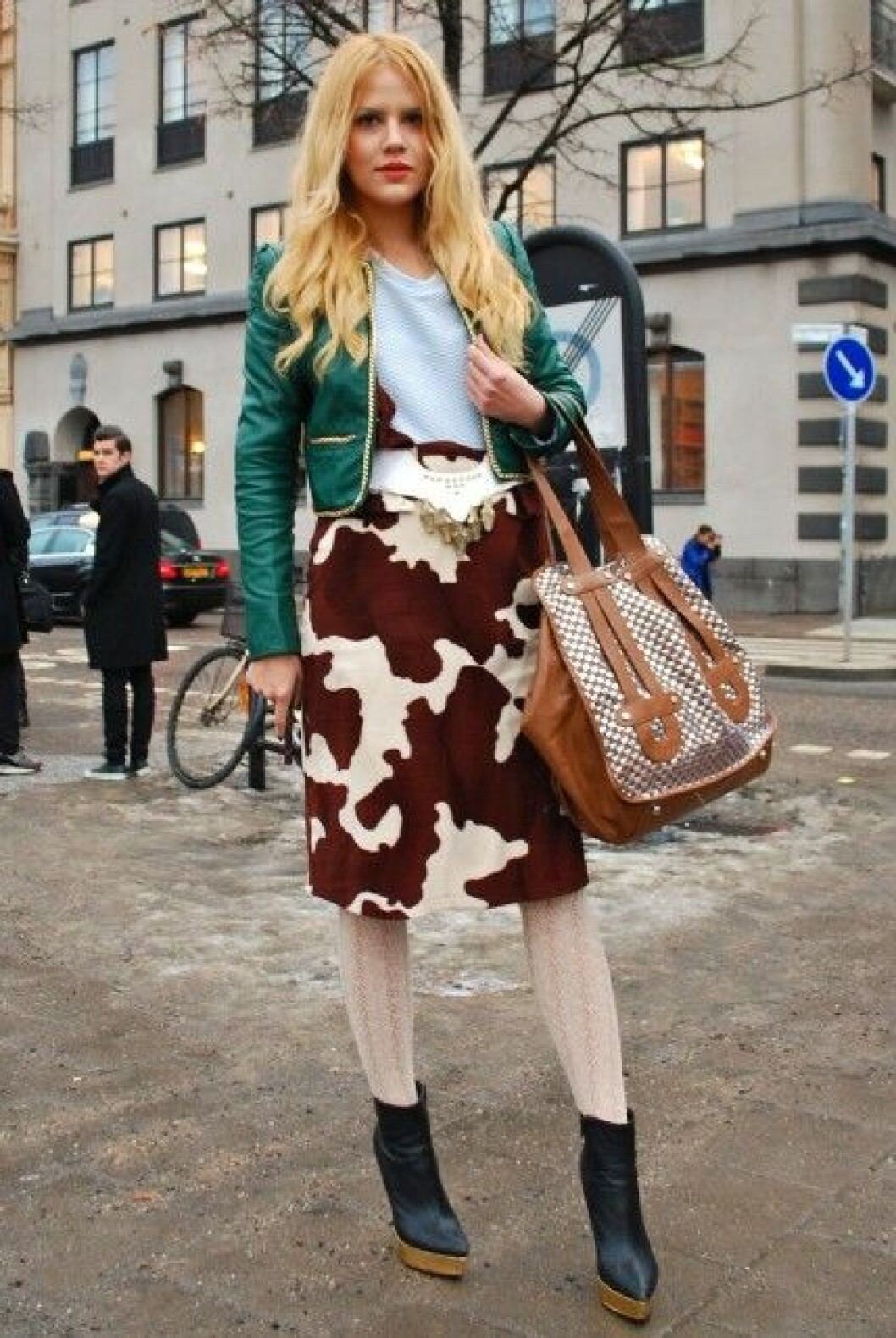 Carolina Sundell på Mercedes-Benz Fashion Week i Stockholm.