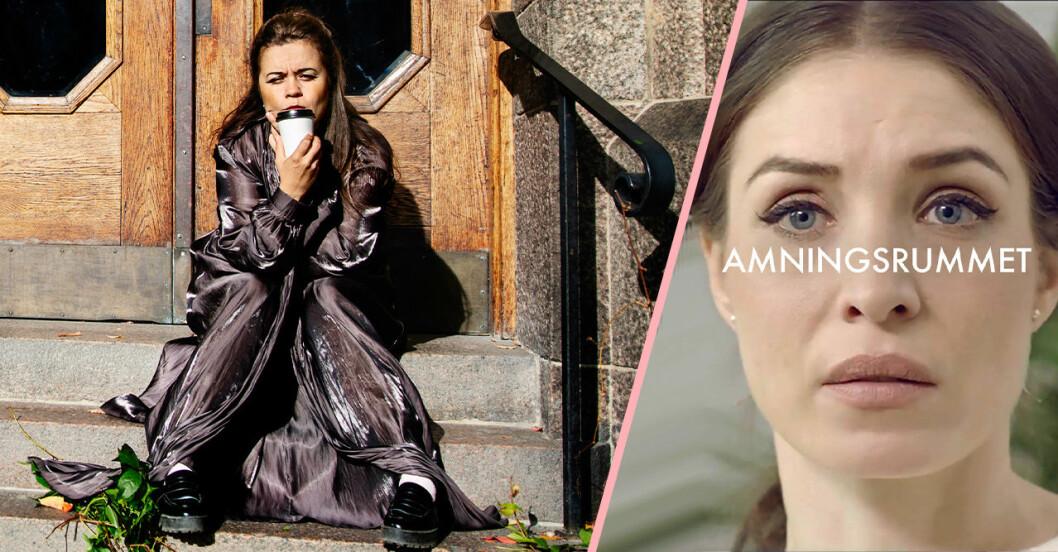 Caroline Ringskog Ferrada-Noli och Alida Morberg i SVT-serien Amningsrummet.