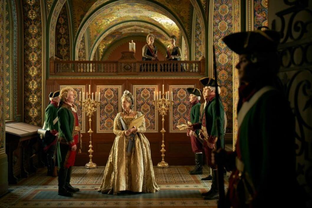En bild från tv-serien Catherine The Great, som har premiär på HBO den 3 oktober 2019.