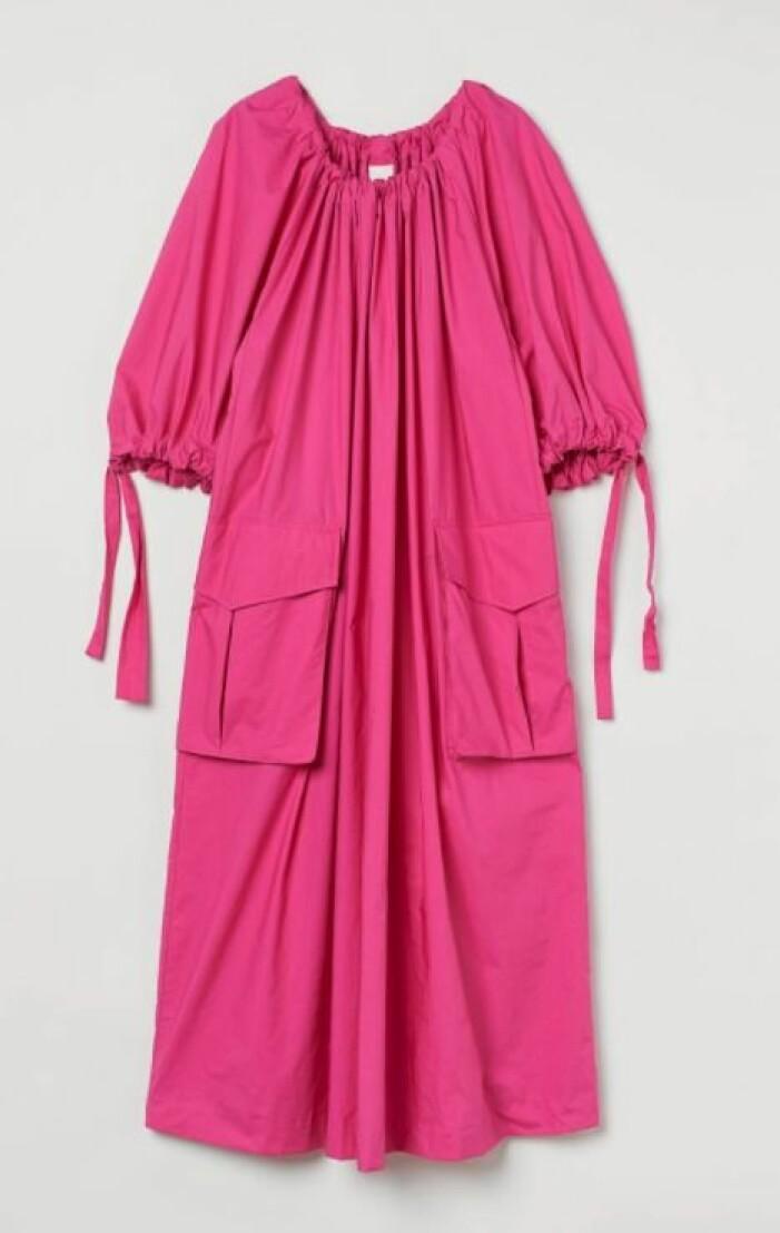 ceriserosa klänning H&M